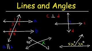 Parallel and Perpendicular Lines, Transversals, Alternate Interior Angles, Alternate Exter ...