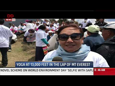 International Yoga Day: Yoga in the lap of Mount Everest