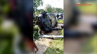 Man killed as Audi R8 supercar smashes into Land Rover