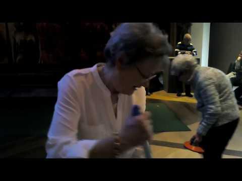 Mum Curling in the Grove ballroom at Alvaston Hall !