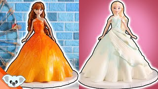 FROZEN 2 Princess Doll Cake  Amazing Elsa and Anna Disney Princess Ideas | How To | Koalipops