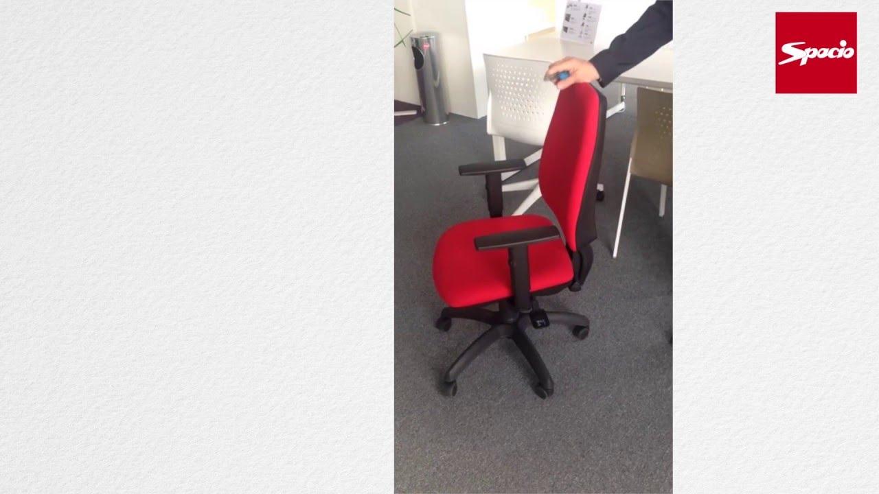 Cambiar carcasa respaldo silla oficina Equis | Sillas de oficina Spacio