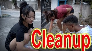 Mariano, Belle & Kat - New House Cleanup part 1 | SY Talent Entertainment