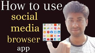 How to use social media browser app | all social media apps in one app | appso app screenshot 1