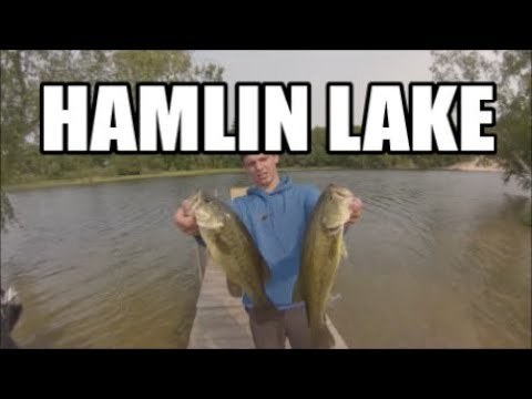 Bass Fishing Hamlin Lake - Caught In A STORM
