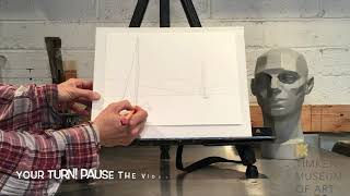 Art Lesson: Visual Perspective for Seniors. Making Your Drawing Look Real