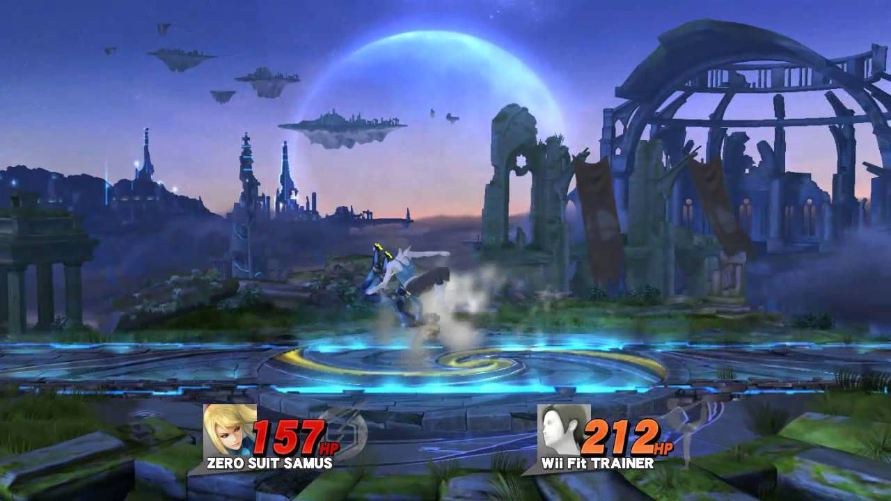 Stamina Smash: Zero Suit Samus VS. Wii Fit Trainer - YouTube