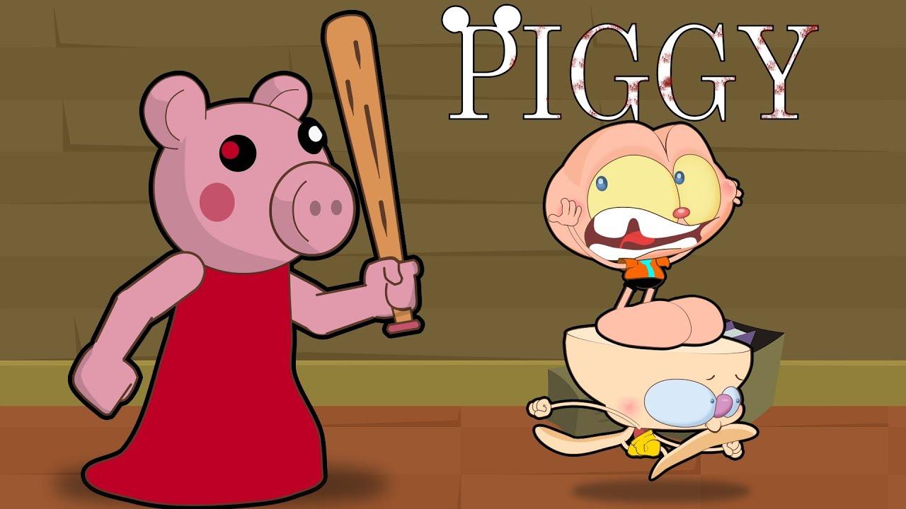 Mongo e Drongo em Piggy no Roblox - Capítulo 1 - Piggy em desenho animado