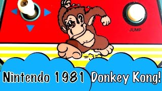 Coleco Donkey Kong Mini Arcade 1981 Nintendo Game Toy Review With Cheat Codes