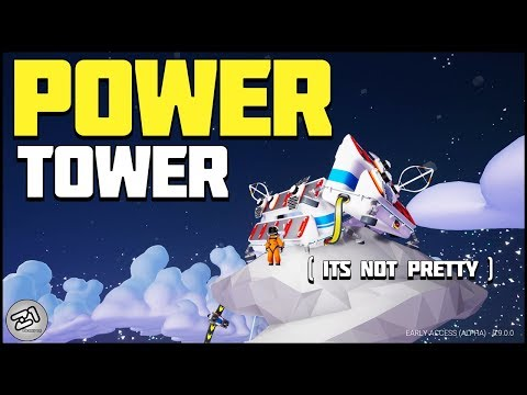 Building a POWER TOWER ! Solar Power All the Time! Astroneer Update 9.0 E7 | Z1 Gaming