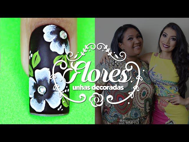 Unhas Decoradas com Flores Simples e Delicadas | Cola na Villar