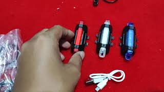 Lampu Led Sepeda Paket Depan Belakang Upgrade Asesoris Paket Super Bright Terang