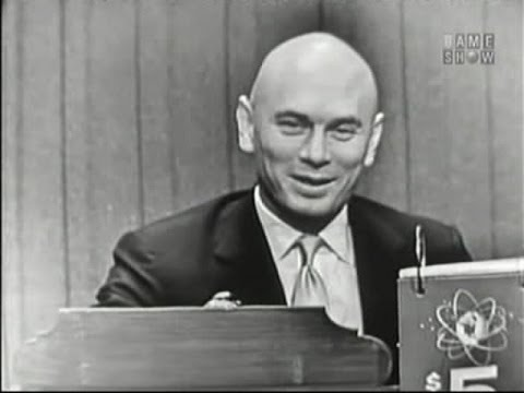 What's My Line?  Yul Brynner; Peter Lind Hayes panel Jan 6, 1957