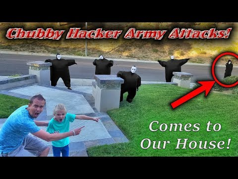 Chubby Hacker Army Top Secret Attack on Our House! Led By the Game Master!!