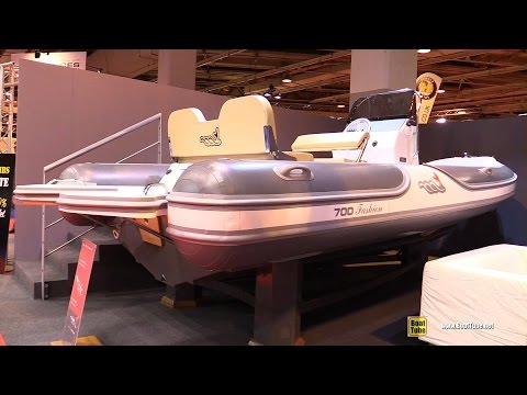 2016 MV Marine 700 Fashion Inflatable Boat - Walkaround - 2015 Salon Nautique de Paris