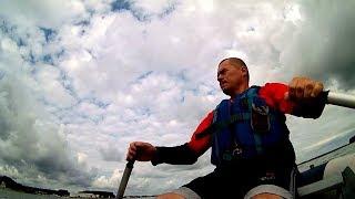 На гребной лодке на море минское  ищем судака  гроза за спиной  что то подцепил
