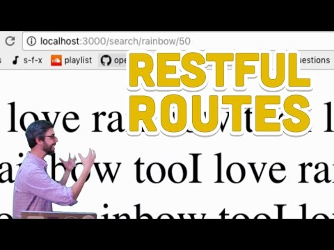 RESTful Routes - Programming with Text