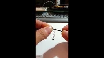 이어폰 단선 방지 스프링 작업