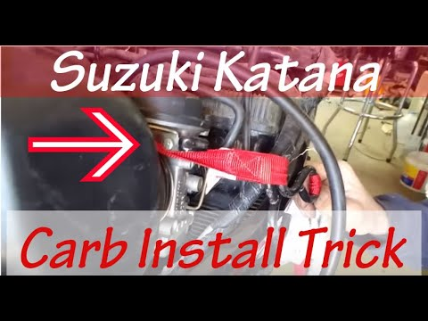 How to EASILY Install 94 Suzuki Katana Carbs