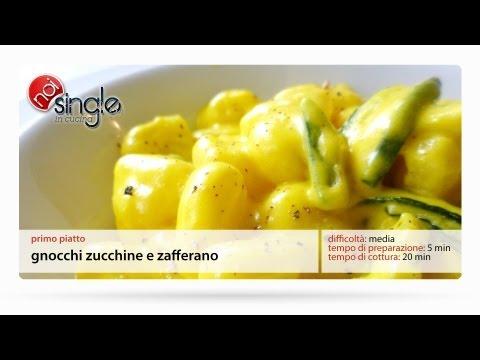 Gnocchi zucchine e zafferano