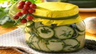 Как приготовить консервированный салат из огурцов | How to cook canned cucumber salad