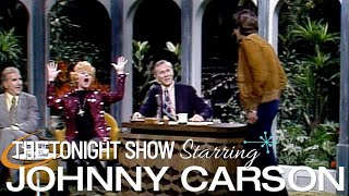Lucille Ball gets a surprise visit from her son, Desi Arnaz Jr. on Carson Tonight Show  03/22/1974