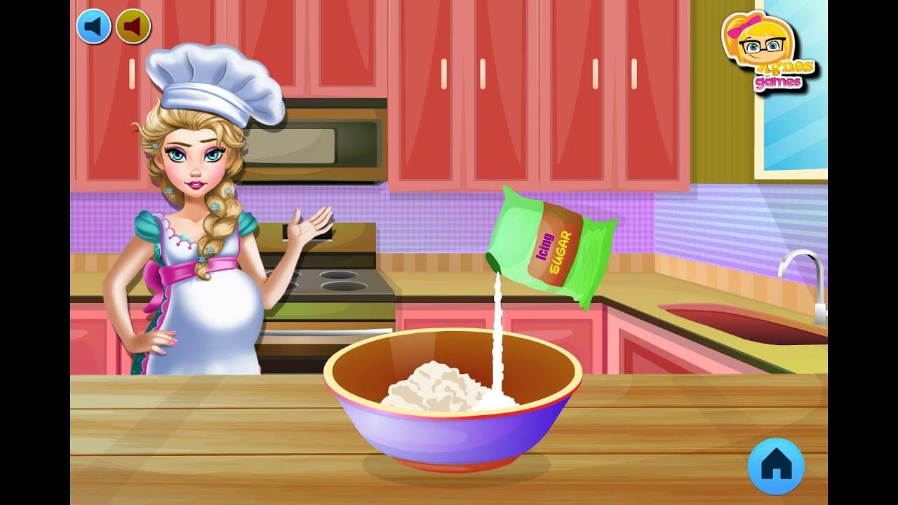 NEW мультик онлайн для девочек—Эльза готовит панкейки—Игры ...