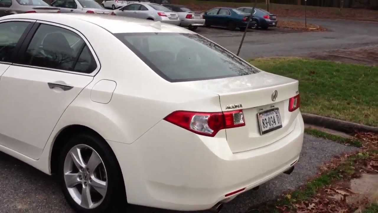 2010 acura tsx tech review start up rev walk around quick drive youtube