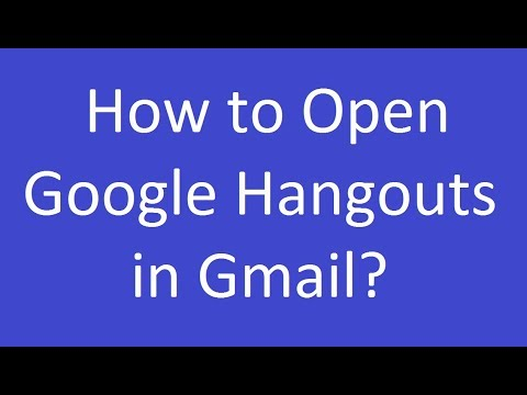 How To Open Google Hangouts In Gmail?