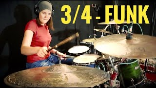 "Sandra Schorer - ""3/4-Funk"" [Drumplayalong]"