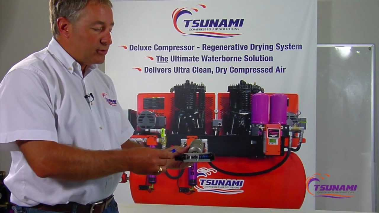 Air Compressor Filter Dryer >> Remove Water in Compressor : Automatic Drain Valve - YouTube