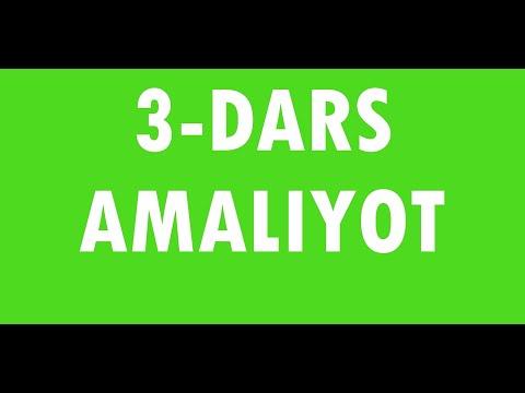 Ingliz tili 3-dars (amaliyot)