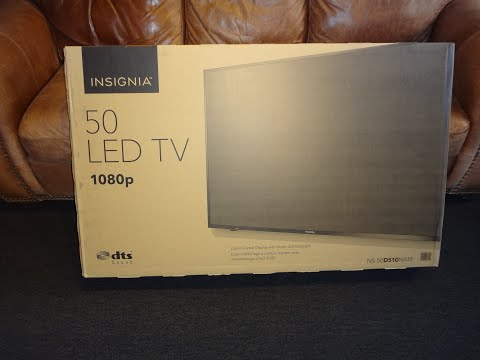 Insignia 50 Inch Led TV 1080p Unboxing @ Best Buy $199.99