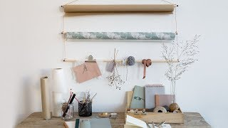 DIY : Create your own centre for gift wrapping by Søstrene Grene