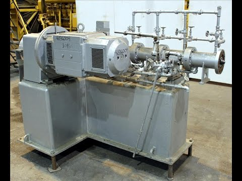 Used- Bonnot Extruder, 304 Stainless Steel - stock # 46536004