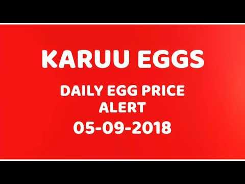 Karuu Eggs Exports - Daily Egg Price Alert 05-09-2018