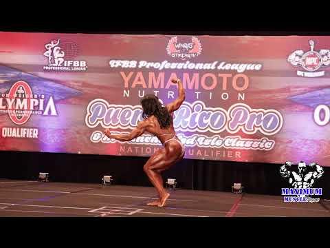Women's Bodybuilding Posing Routines | 2019 Puerto Rico Pro