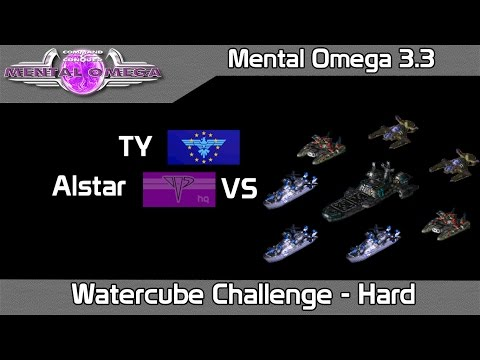Mental Omega 3.3.1 - Watercube Challenge on Hard Difficulty