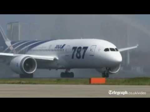 Boeing 787 Dreamliner's maiden flight from Tokyo