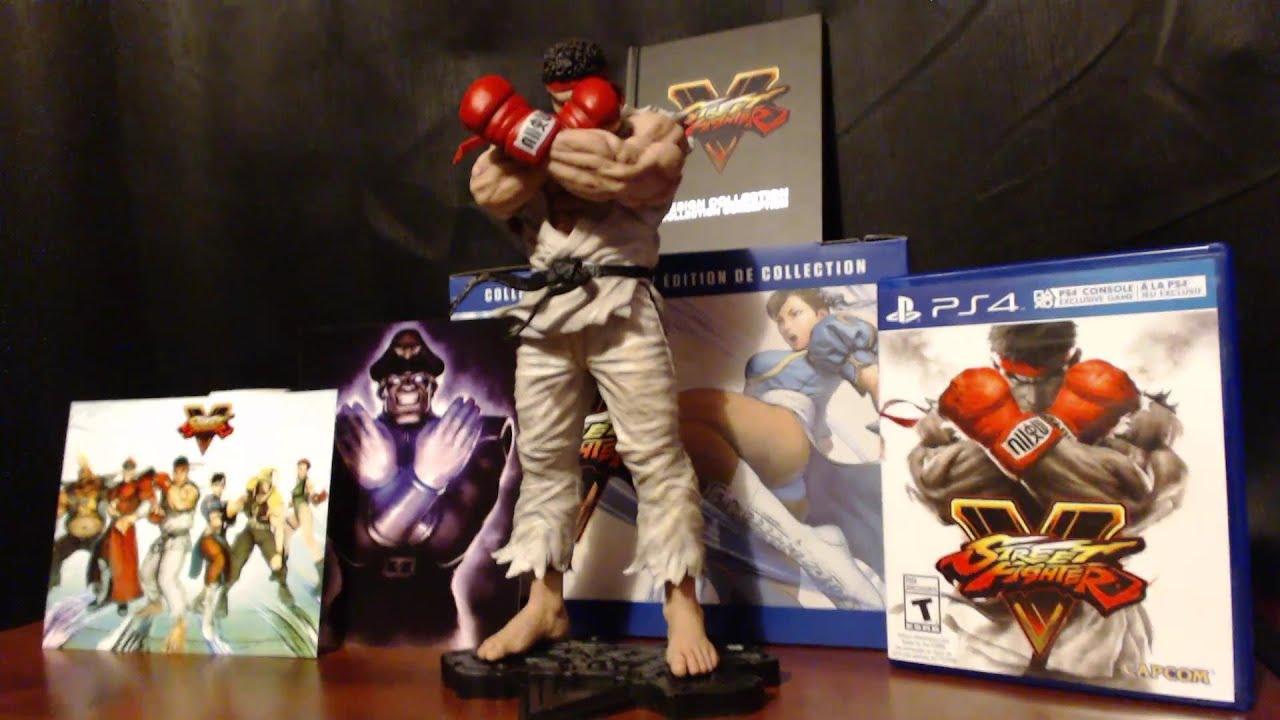 "Street Fighter V Collectors Edition 10/"" Ryu Statue SFV figure capcom"