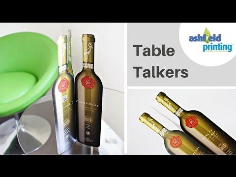Table Talkers Print Advertising For Cafes Bars Restaurants YouTube - Restaurant table talkers