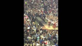 Trump entrance Buffalo, NY rally