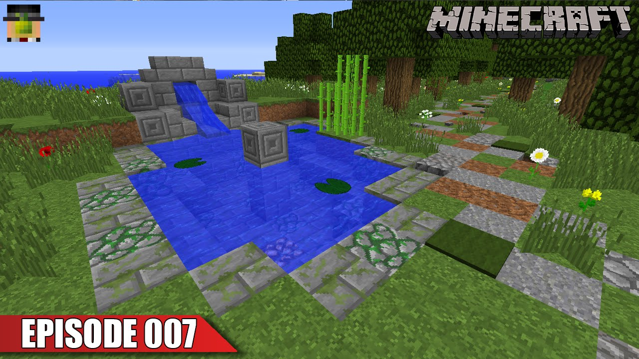 Let 39 s build a pond and storage cellar survival vanilla for How to build a small lake