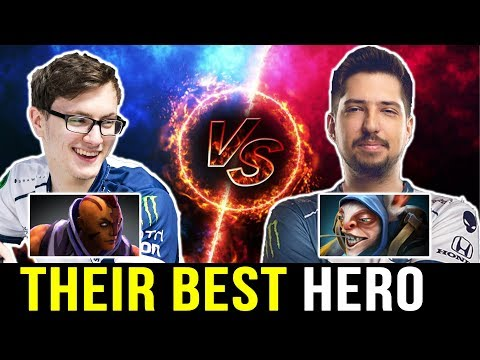 W33 vs MIRACLE — Playing with Their BEST HERO Dota 2