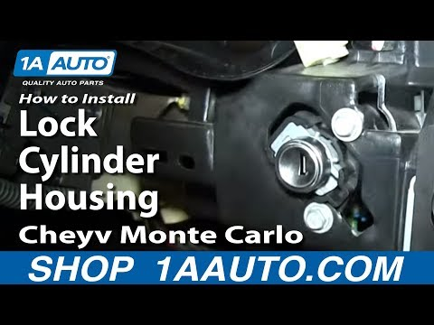 how to replace ignition lock cylinder housing 00-05 chevy monte carlo -  youtube