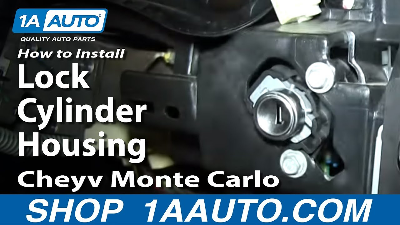 How To Install Replace Lock Cylinder Housing 2000 05 Cheyv Monte 1996 Chevy Truck Ignition Switch Wiring Diagram Pins Carlo