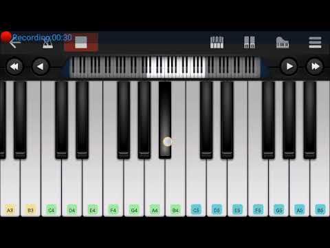Tutorial+half Girlfriend Love Theme+on Mobile Piano