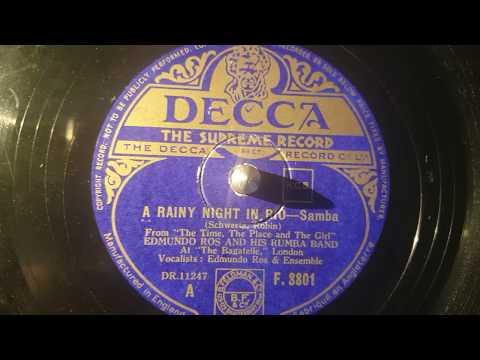 edmundo ros and orchestra - a rainy night in rio - 78 rpm samba