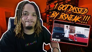 I GOT DISSED BY BSNEAK !!! LAST TRACK (OFFICIAL MUSIC VIDEO) DISS TRACK REACTION