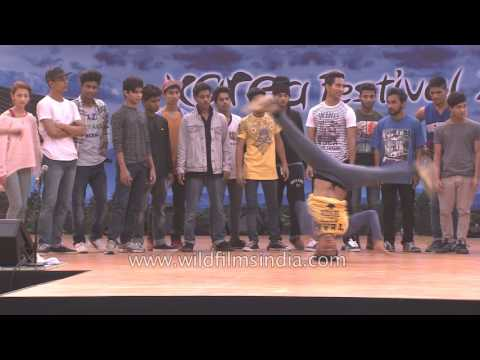 Korea's B Boying Gamblerz crew teaches Indian dancers